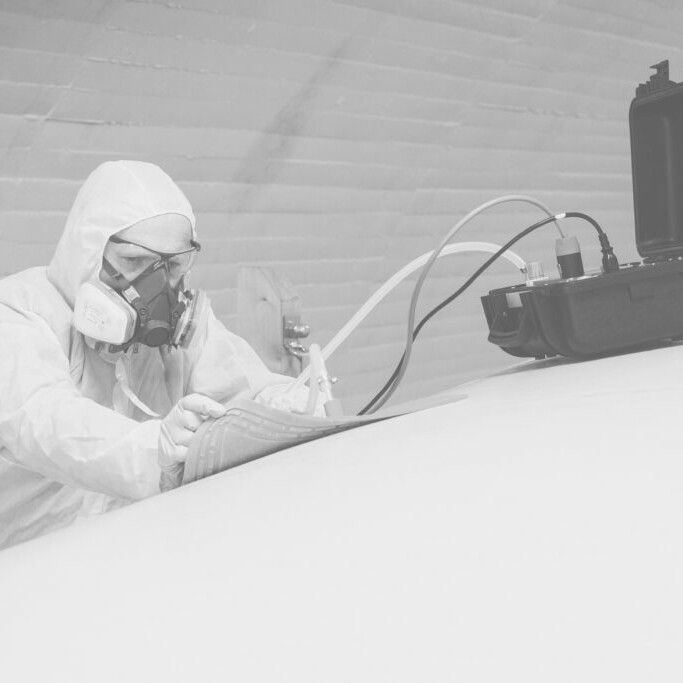 Composite Repair-heating and curing
